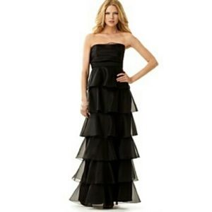 Strapless Tiered Formal Gown